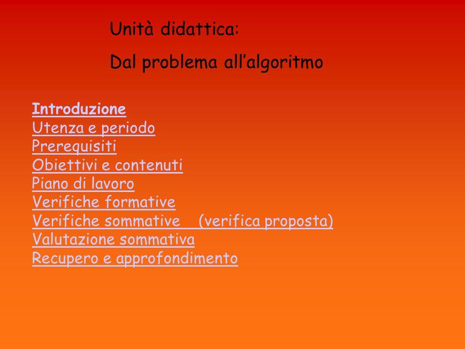 Dal problema all'algoritmo
