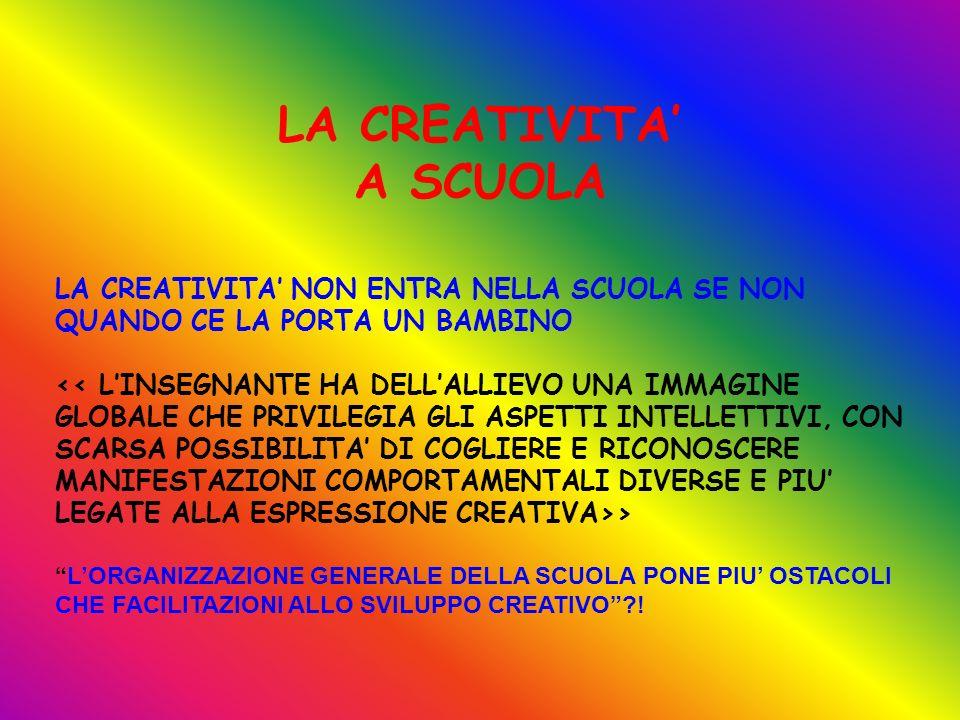 LA CREATIVITA' A SCUOLA