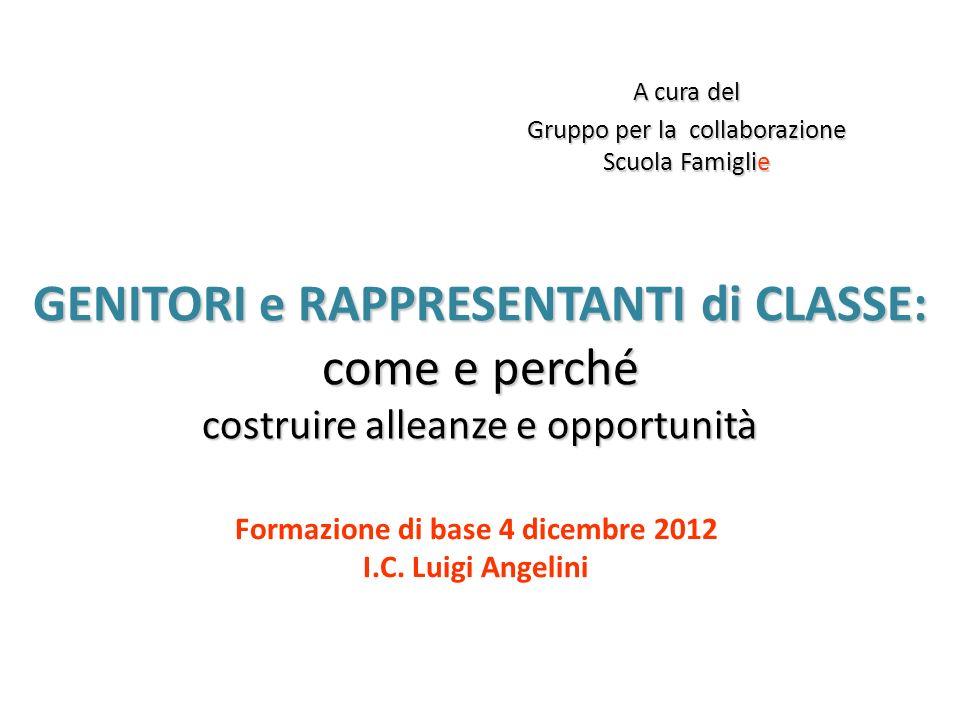 Formazione di base 4 dicembre 2012 I.C. Luigi Angelini