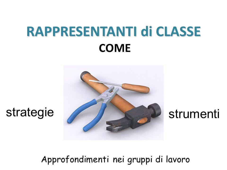 RAPPRESENTANTI di CLASSE COME