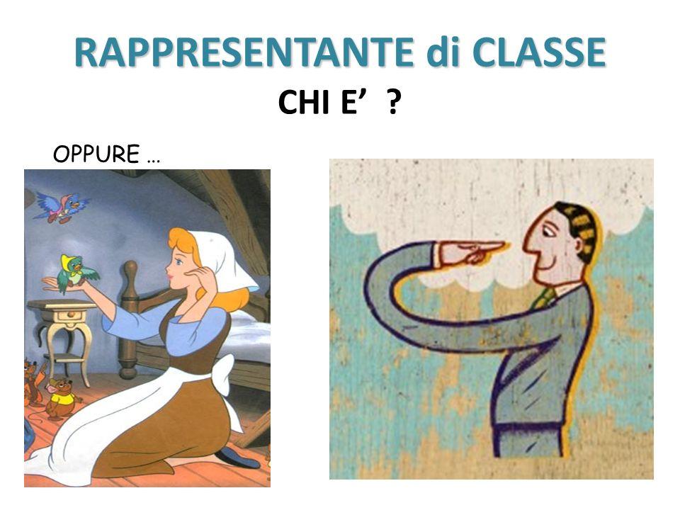 RAPPRESENTANTE di CLASSE CHI E'