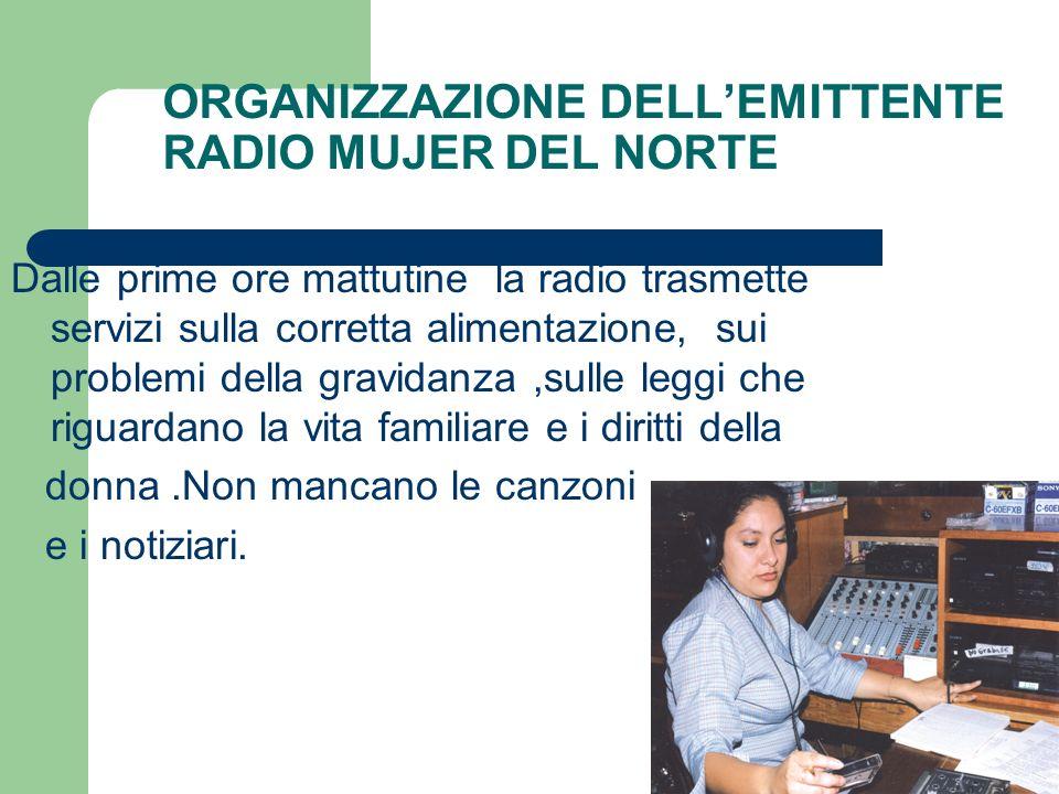 ORGANIZZAZIONE DELL'EMITTENTE RADIO MUJER DEL NORTE