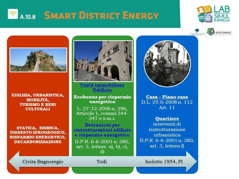 Unità immobiliare Edificio Ecobonus per risparmio energetico