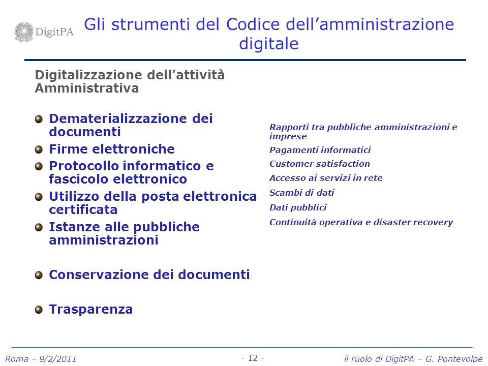 Gli strumenti del Codice dell'amministrazione digitale