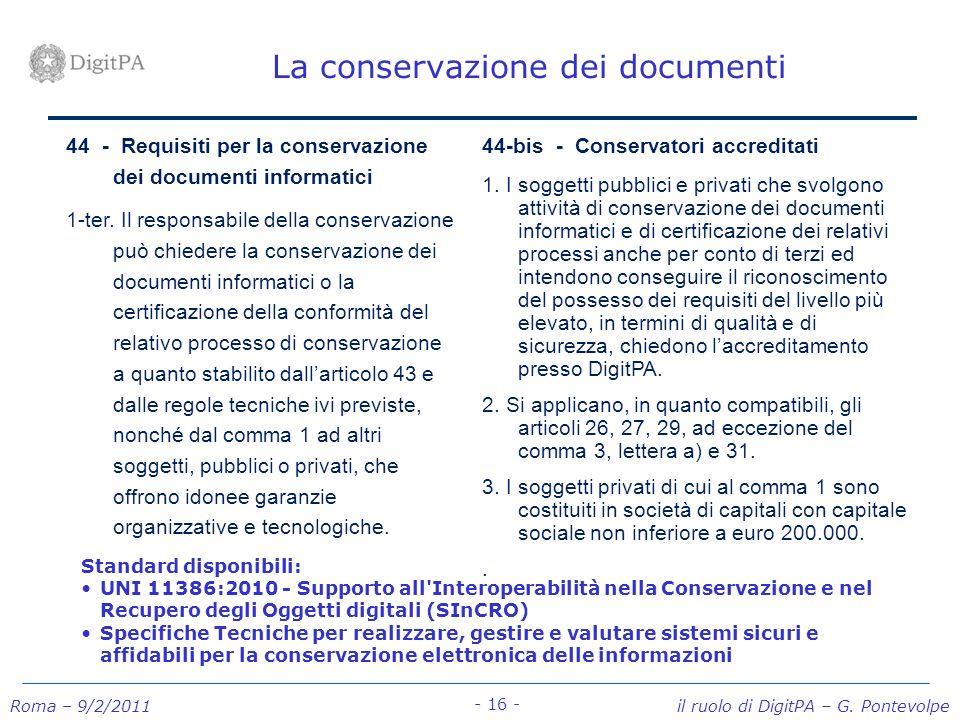 La conservazione dei documenti