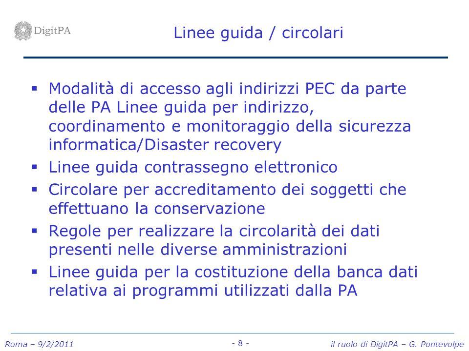 Linee guida / circolari