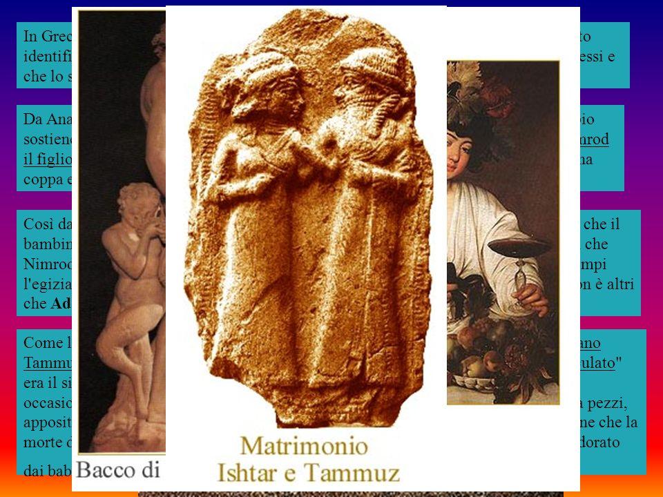 In Grecia il bambino nelle braccia della madre è chiamato Dionisio o Bacco. Erodoto identifica Bacco con Osiride sostenendo che i riti di queste due divinità erano gli stessi e che lo stesso Bacco era rappresentato con una pelle di leopardo.