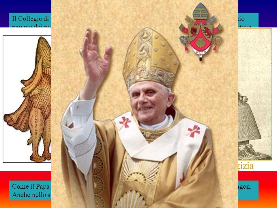 Il Collegio di cardinali con il Papa a capo non è altro che la controparte del collegio pagano dei pontefici con il suo Pontefice Massimo o Sovrano Pontefice che esisteva a Roma e si basava sul modello del grande originale concilio di Pontefici di Babilonia.
