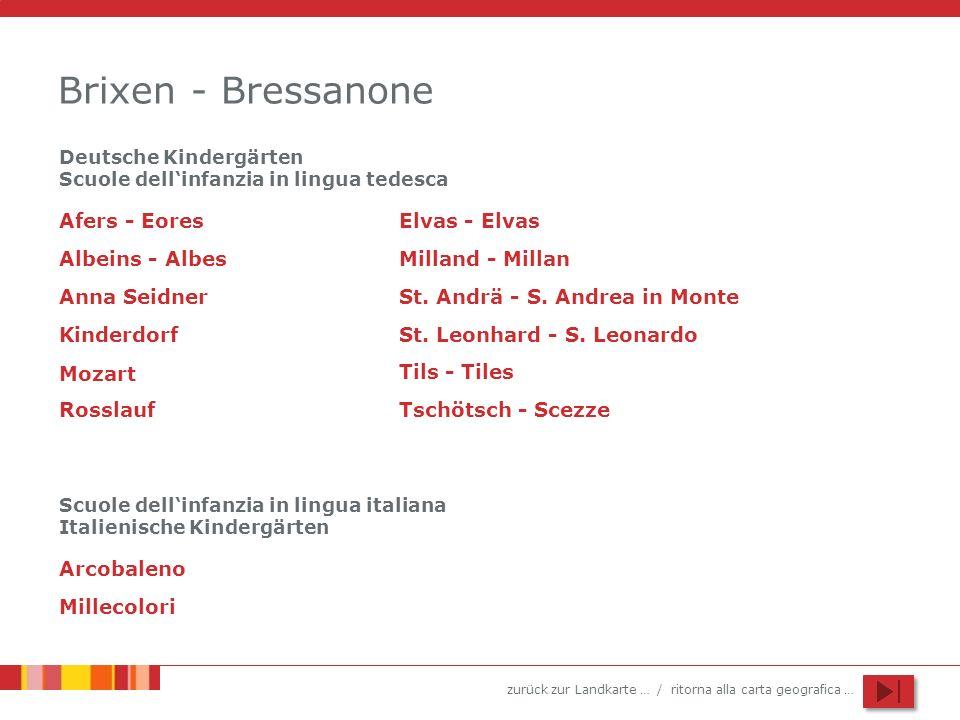 Brixen - Bressanone Afers - Eores Elvas - Elvas Albeins - Albes