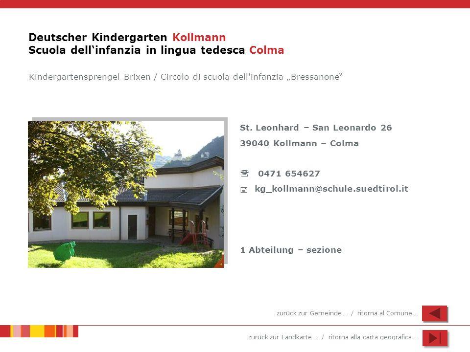 Deutscher Kindergarten Kollmann Scuola dell'infanzia in lingua tedesca Colma