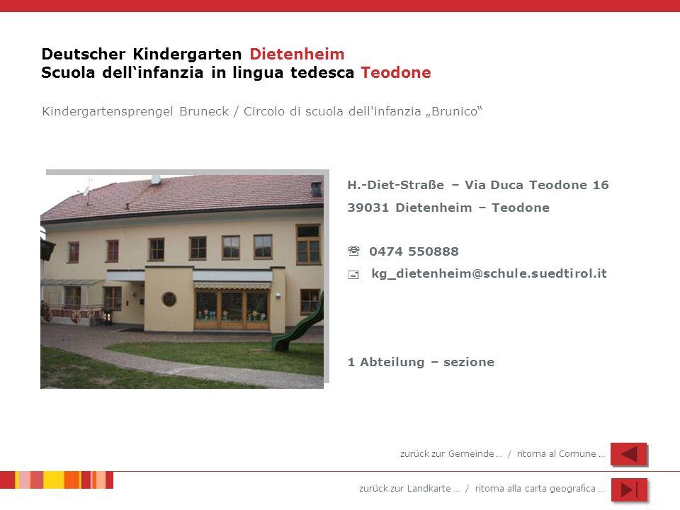 Deutscher Kindergarten Dietenheim Scuola dell'infanzia in lingua tedesca Teodone