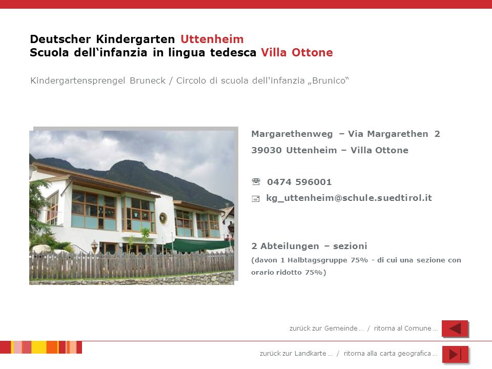 Deutscher Kindergarten Uttenheim Scuola dell'infanzia in lingua tedesca Villa Ottone