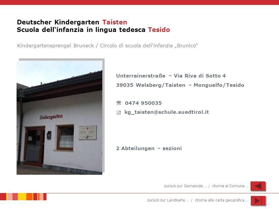 Deutscher Kindergarten Taisten Scuola dell'infanzia in lingua tedesca Tesido
