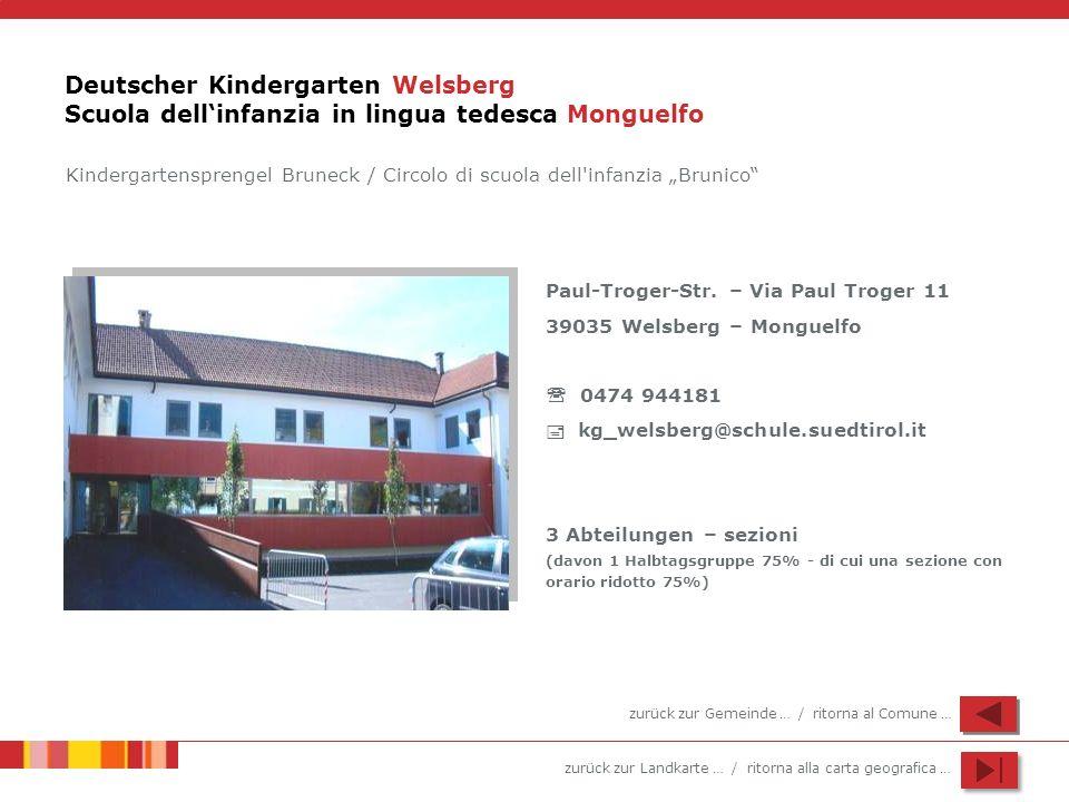 Deutscher Kindergarten Welsberg Scuola dell'infanzia in lingua tedesca Monguelfo
