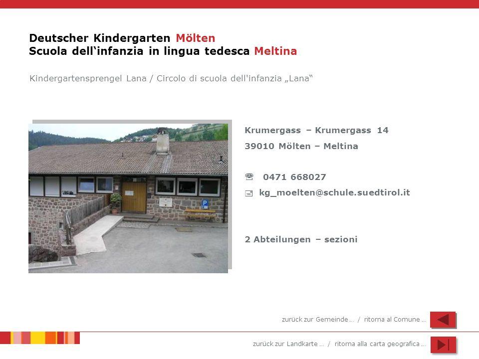 Deutscher Kindergarten Mölten Scuola dell'infanzia in lingua tedesca Meltina