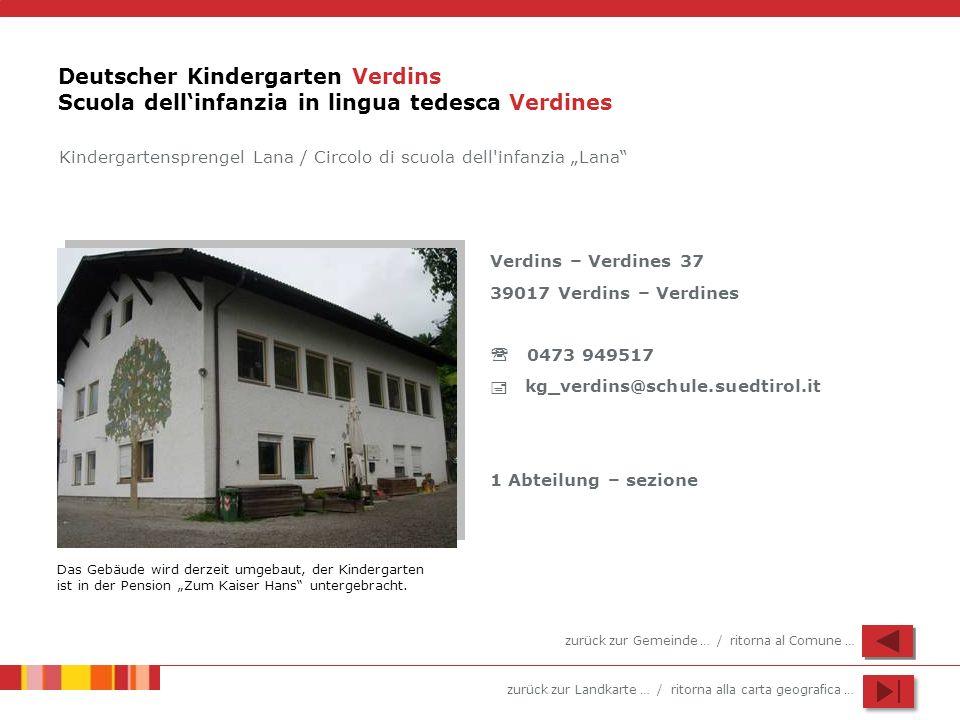 Deutscher Kindergarten Verdins Scuola dell'infanzia in lingua tedesca Verdines