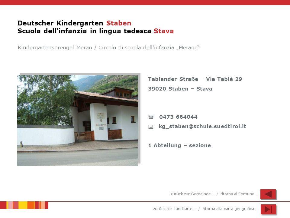 Deutscher Kindergarten Staben Scuola dell'infanzia in lingua tedesca Stava