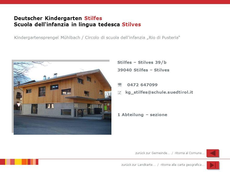Deutscher Kindergarten Stilfes Scuola dell'infanzia in lingua tedesca Stilves