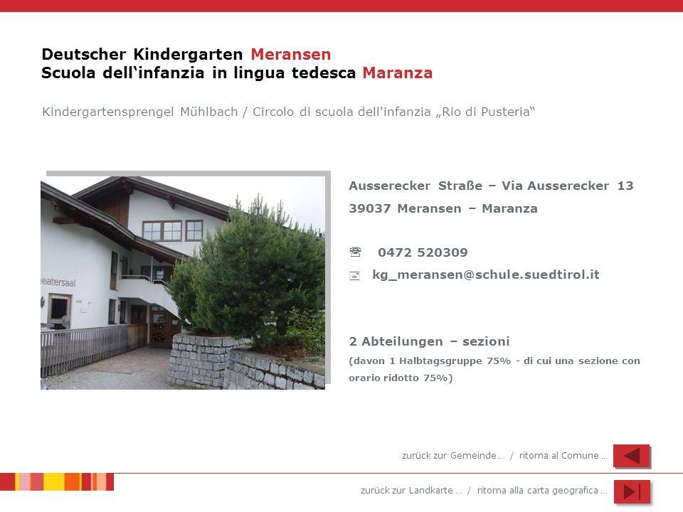 Deutscher Kindergarten Meransen Scuola dell'infanzia in lingua tedesca Maranza