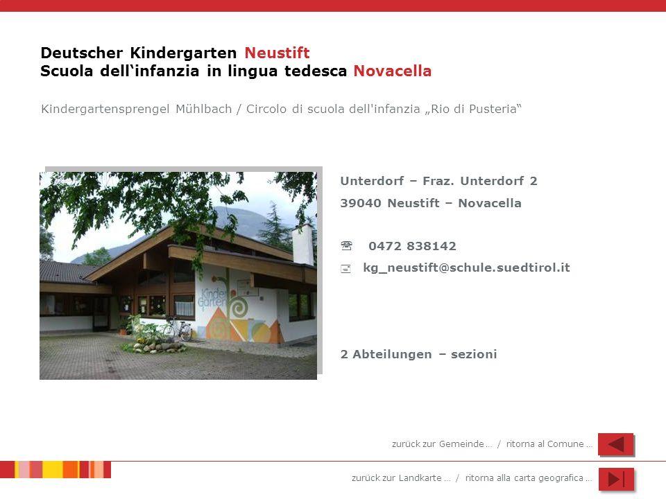 Deutscher Kindergarten Neustift Scuola dell'infanzia in lingua tedesca Novacella