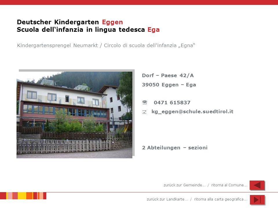 Deutscher Kindergarten Eggen Scuola dell'infanzia in lingua tedesca Ega