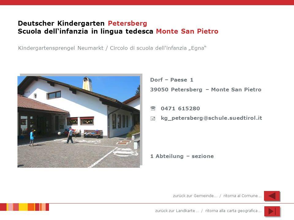Deutscher Kindergarten Petersberg Scuola dell'infanzia in lingua tedesca Monte San Pietro