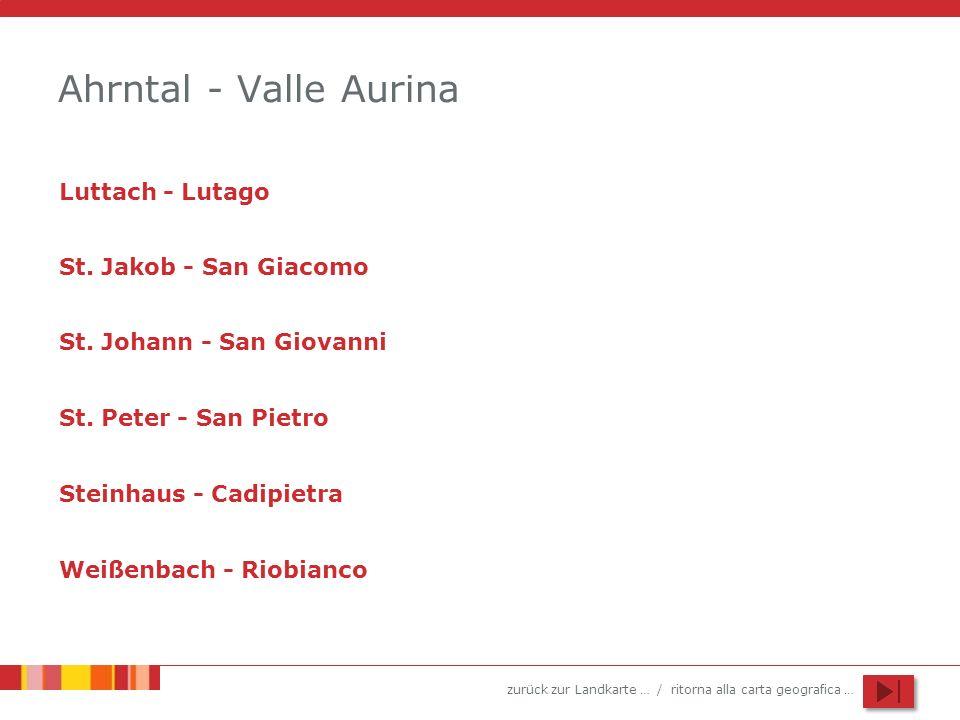 Ahrntal - Valle Aurina Luttach - Lutago St. Jakob - San Giacomo