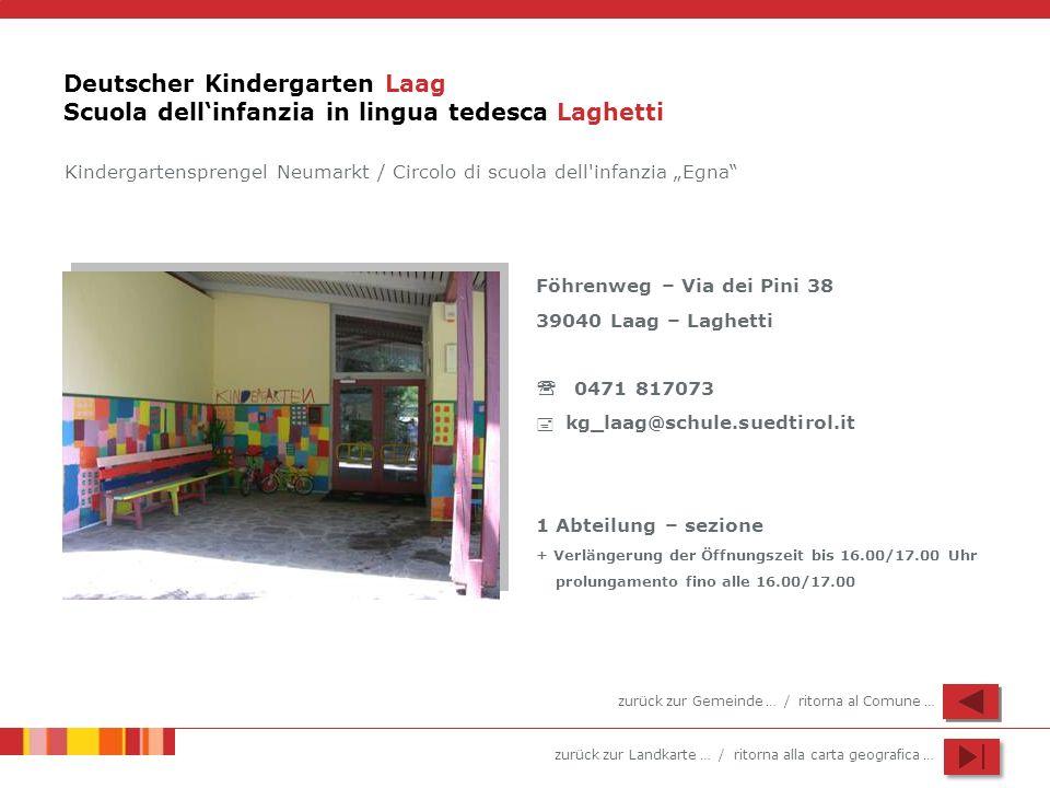 Deutscher Kindergarten Laag Scuola dell'infanzia in lingua tedesca Laghetti