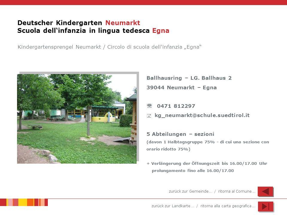 Deutscher Kindergarten Neumarkt Scuola dell'infanzia in lingua tedesca Egna