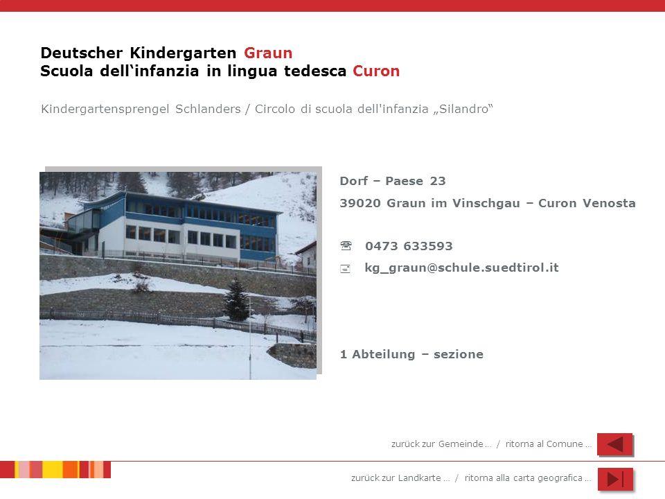 Deutscher Kindergarten Graun Scuola dell'infanzia in lingua tedesca Curon