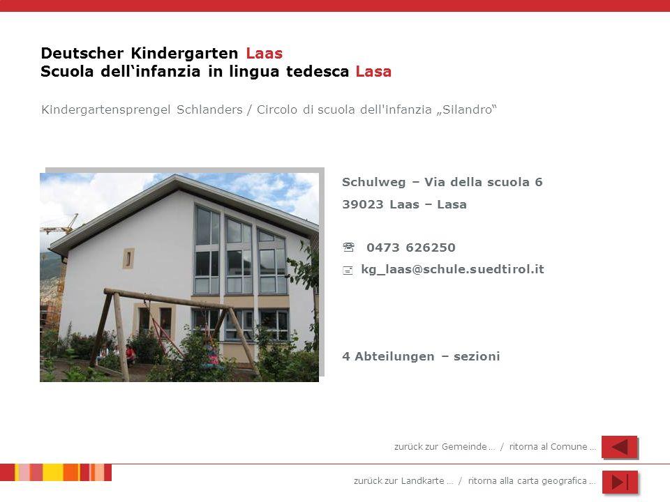 Deutscher Kindergarten Laas Scuola dell'infanzia in lingua tedesca Lasa