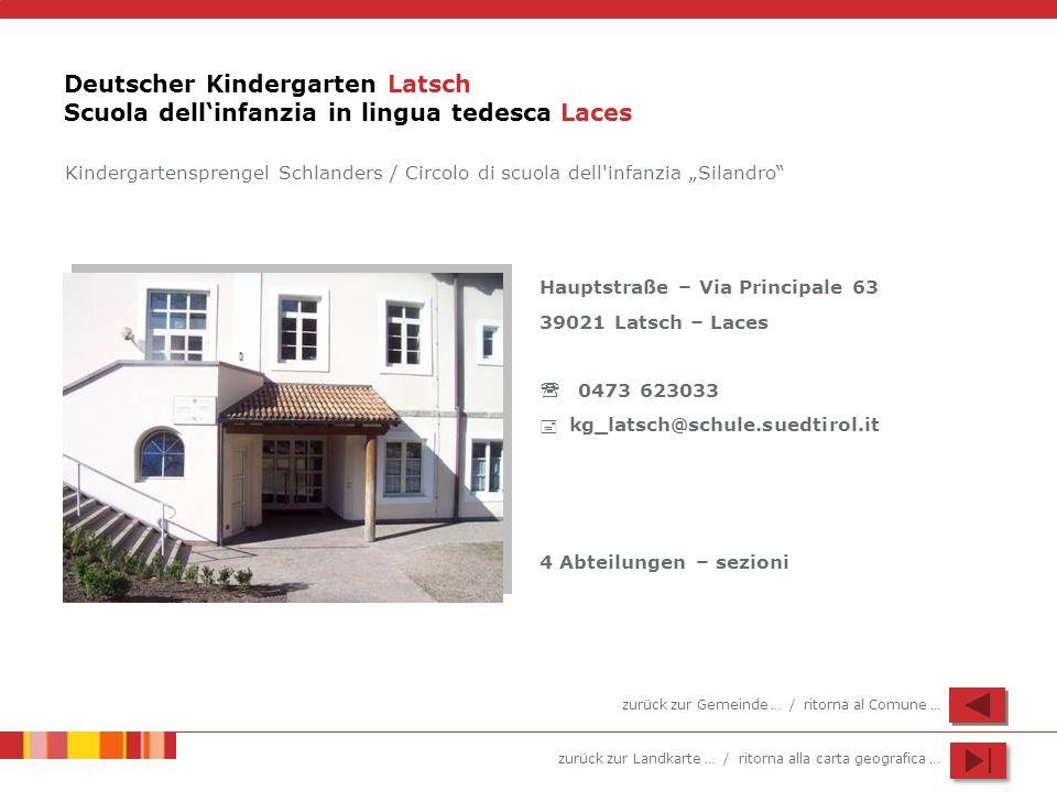 Deutscher Kindergarten Latsch Scuola dell'infanzia in lingua tedesca Laces