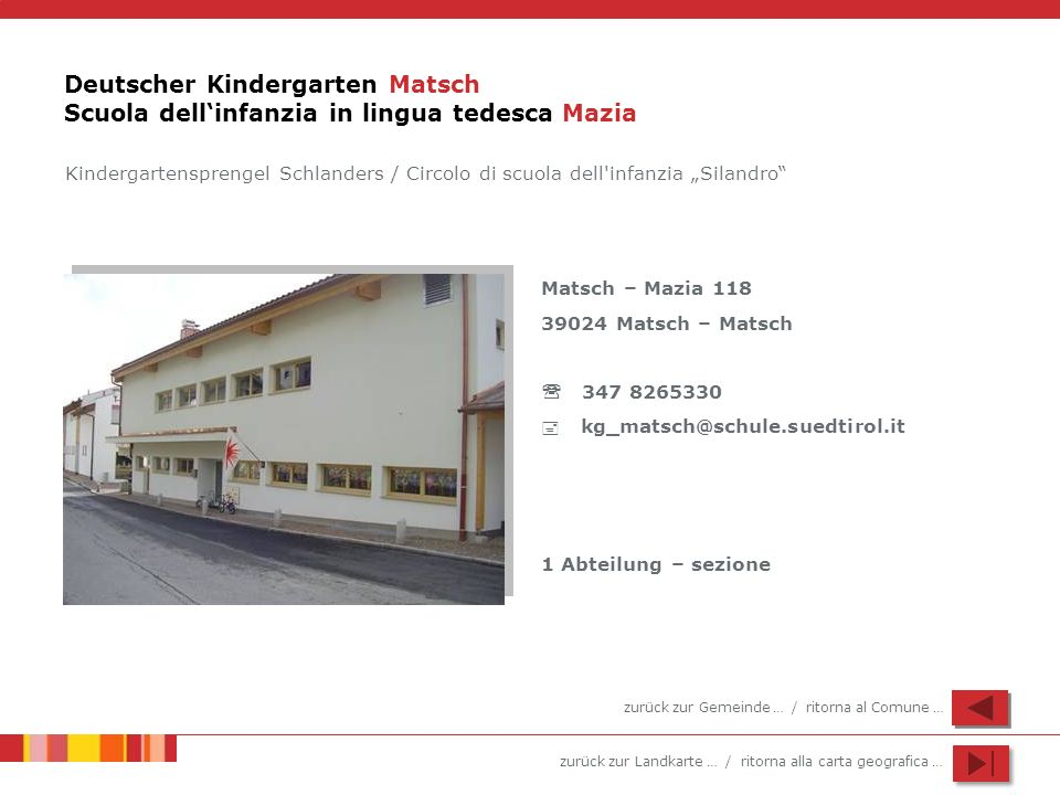 Deutscher Kindergarten Matsch Scuola dell'infanzia in lingua tedesca Mazia