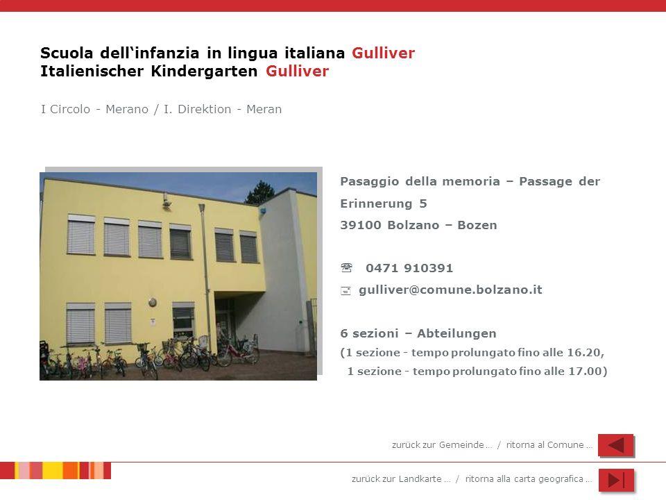 Scuola dell'infanzia in lingua italiana Gulliver Italienischer Kindergarten Gulliver