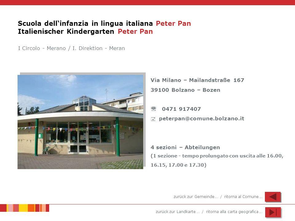 Scuola dell'infanzia in lingua italiana Peter Pan Italienischer Kindergarten Peter Pan