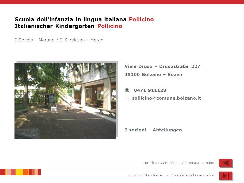Scuola dell'infanzia in lingua italiana Pollicino Italienischer Kindergarten Pollicino