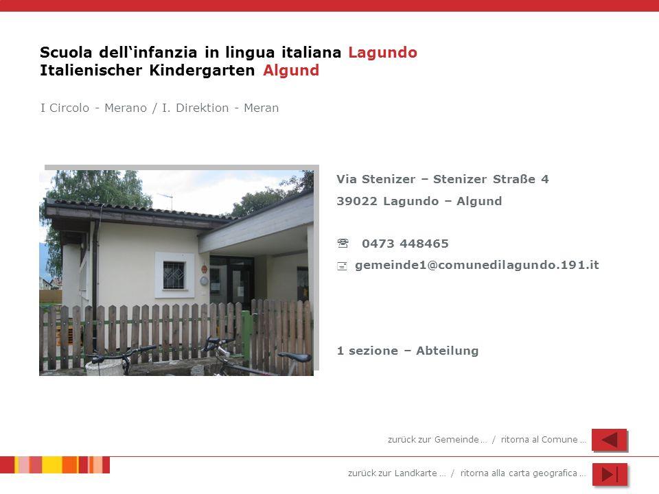 Scuola dell'infanzia in lingua italiana Lagundo Italienischer Kindergarten Algund