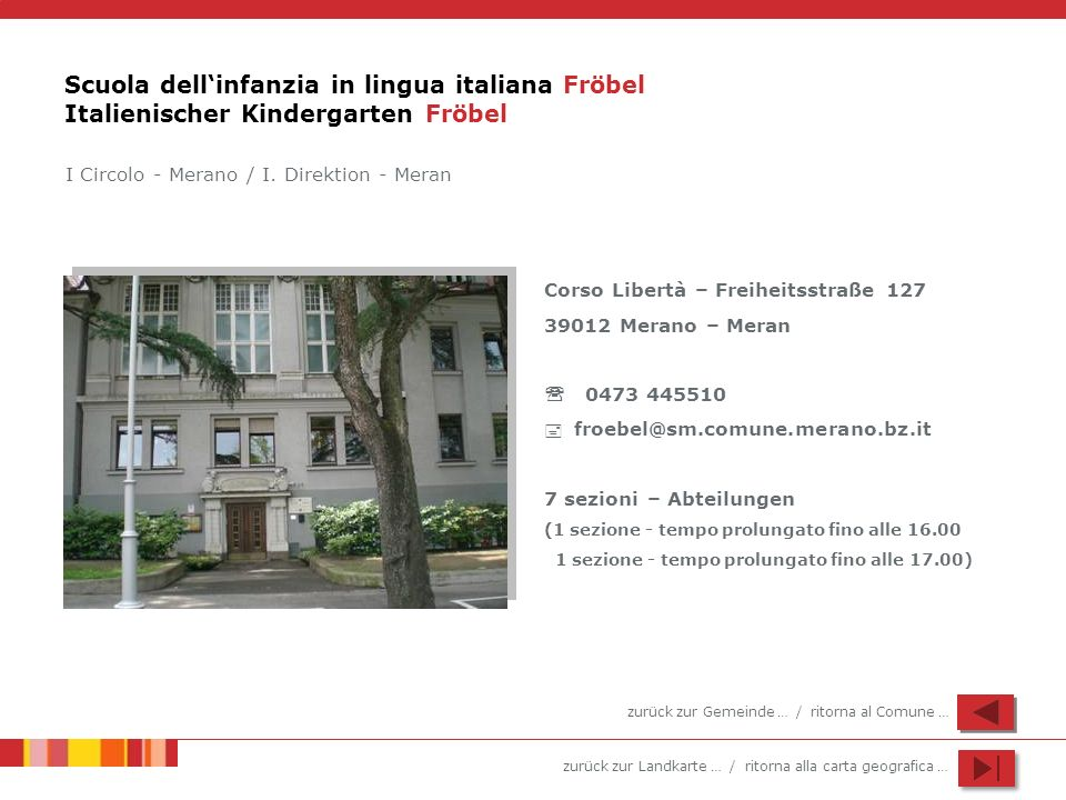 Scuola dell'infanzia in lingua italiana Fröbel Italienischer Kindergarten Fröbel