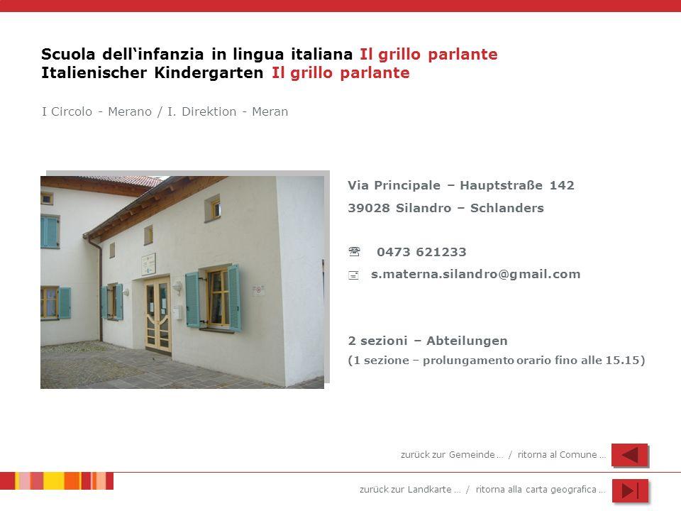 Scuola dell'infanzia in lingua italiana Il grillo parlante Italienischer Kindergarten Il grillo parlante