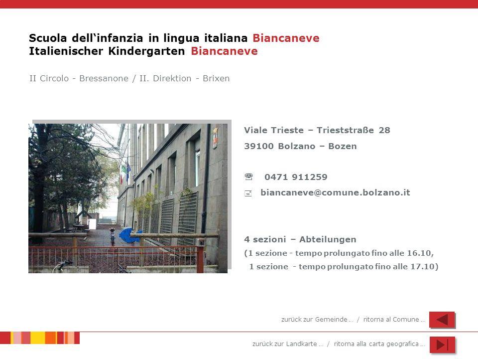 Scuola dell'infanzia in lingua italiana Biancaneve Italienischer Kindergarten Biancaneve