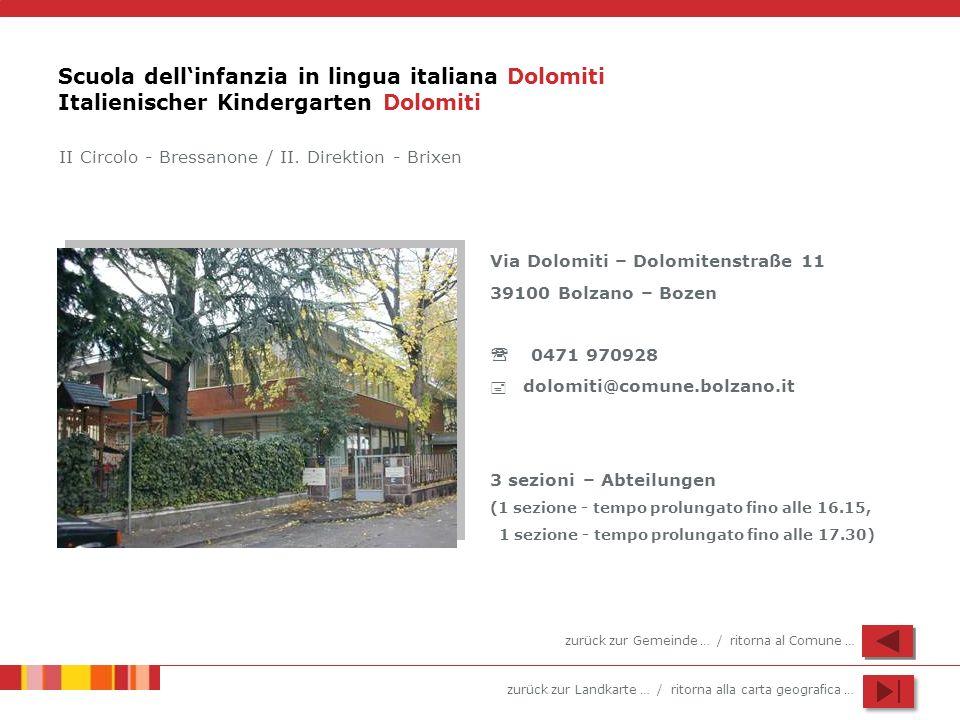 Scuola dell'infanzia in lingua italiana Dolomiti Italienischer Kindergarten Dolomiti