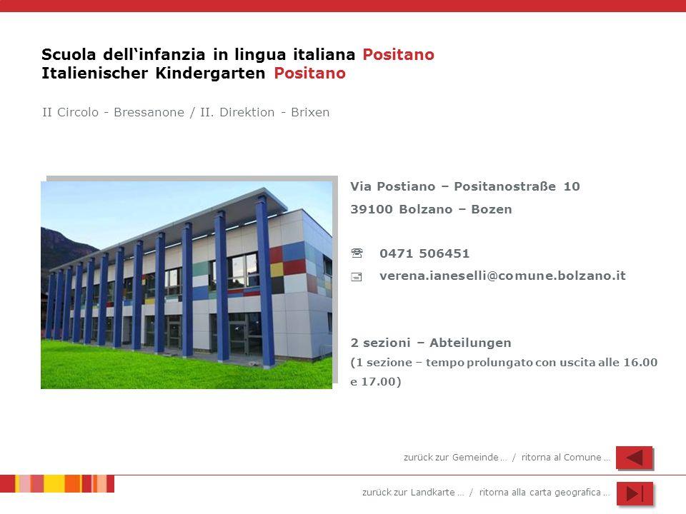 Scuola dell'infanzia in lingua italiana Positano Italienischer Kindergarten Positano