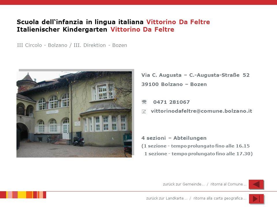 Scuola dell'infanzia in lingua italiana Vittorino Da Feltre Italienischer Kindergarten Vittorino Da Feltre