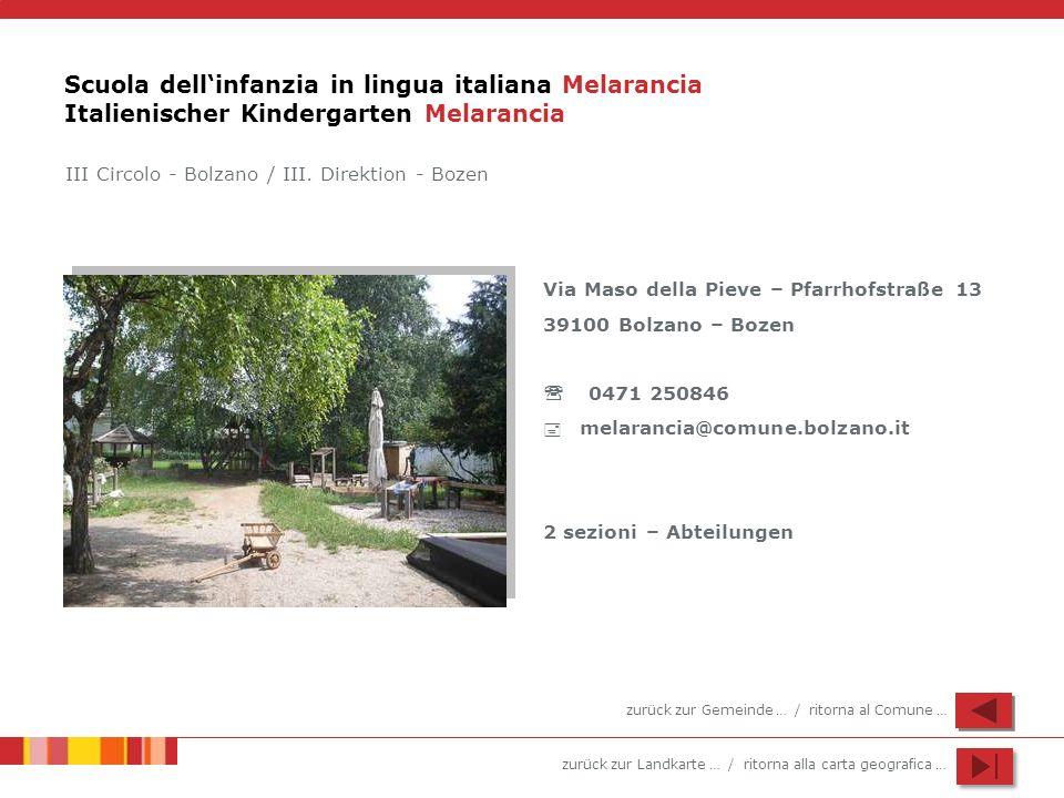 Scuola dell'infanzia in lingua italiana Melarancia Italienischer Kindergarten Melarancia