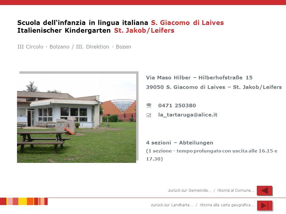 Scuola dell'infanzia in lingua italiana S