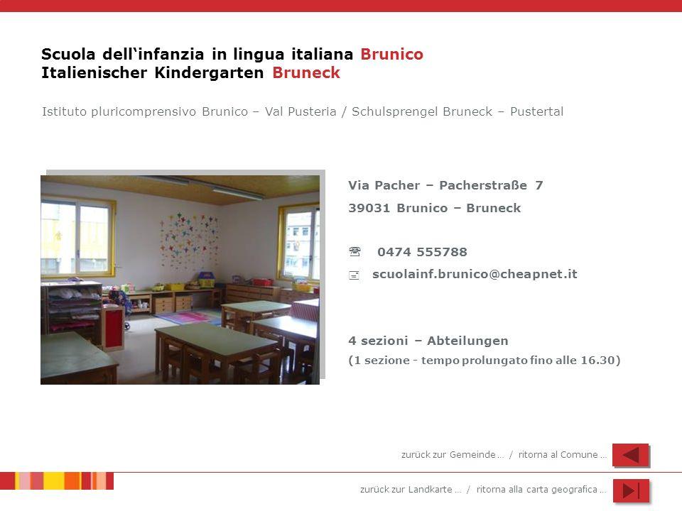 Scuola dell'infanzia in lingua italiana Brunico Italienischer Kindergarten Bruneck