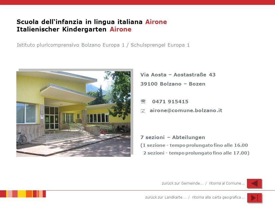 Scuola dell'infanzia in lingua italiana Airone Italienischer Kindergarten Airone