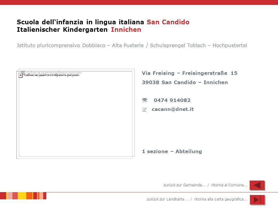 Scuola dell'infanzia in lingua italiana San Candido Italienischer Kindergarten Innichen