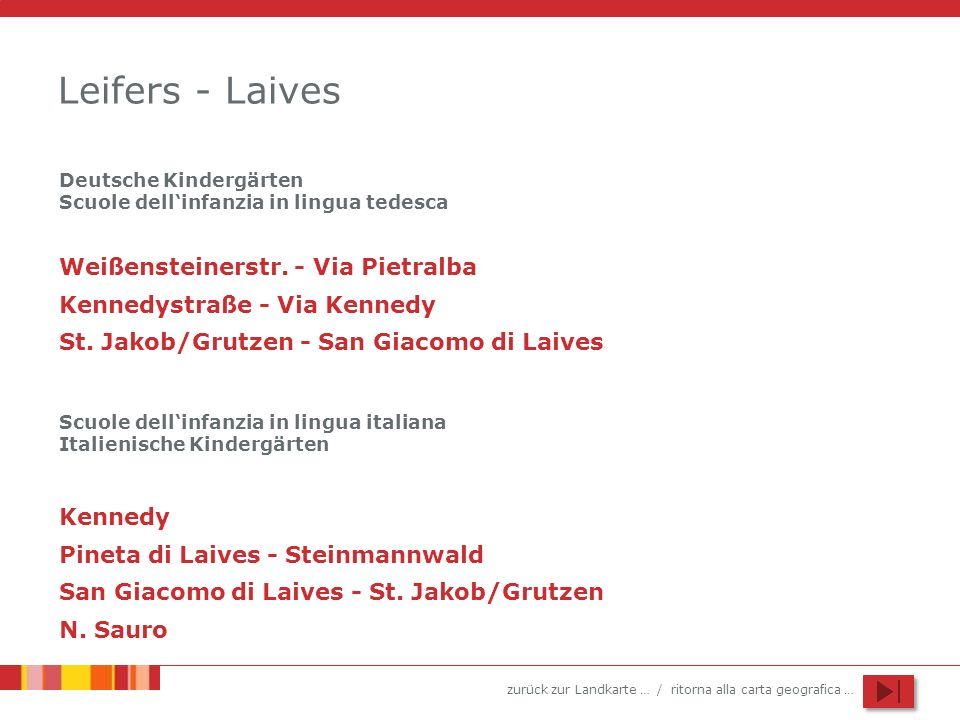 Leifers - Laives Weißensteinerstr. - Via Pietralba