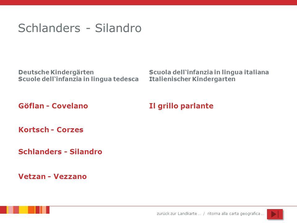 Schlanders - Silandro Göflan - Covelano Il grillo parlante